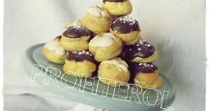 Profiterol csokis és vaníliás töltelékkel