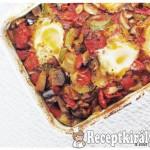 Sütőben sült zöldségragu tojással 1