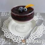 Áfonyás, vaníliás panna cotta 1