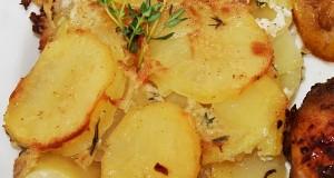 Csőben sült krumpli (burgonya gratin)