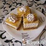 Diós-habos vaníliás kocka
