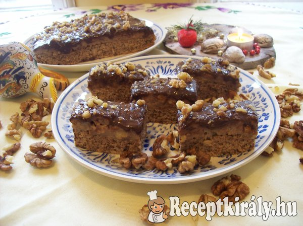 Kávékrémes diós sütemény