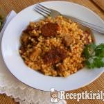 Aszalt paradicsomos tarhonyás hús 2
