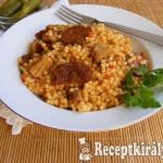Aszalt paradicsomos tarhonyás hús 1