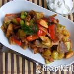Csípős, zöldséges-serpenyős csirke 1