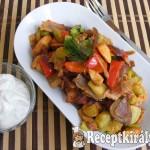 Csípős, zöldséges-serpenyős csirke 2