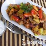 Csípős, zöldséges-serpenyős csirke 3