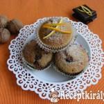 Diós-narancsos muffin, csoki darabokkal 2