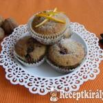 Diós-narancsos muffin, csoki darabokkal 3
