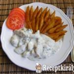 Fokhagymás-tejfölös csirkemell, steak burgonyával 2