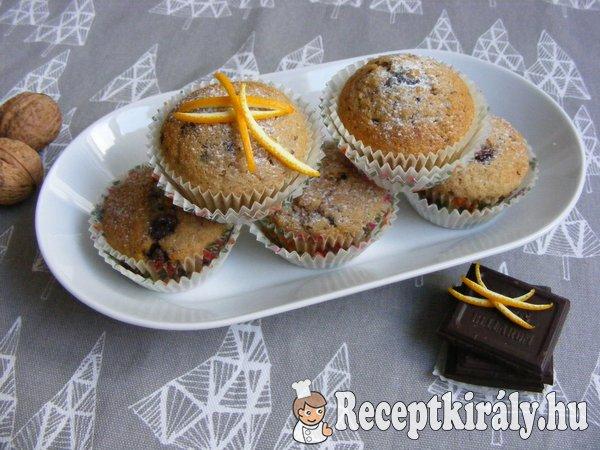 Fűszeres diós muffin