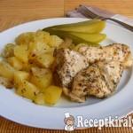 Szalonnás-majorannás csirkemell, burgonya ágyon 3