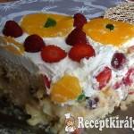 Vaníliás gyümölcstorta sütés nélkül 3