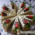 Vaníliás csokis szelet eperrel 1