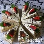 Vaníliás csokis szelet eperrel