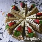 Vaníliás csokis szelet eperrel 2