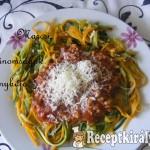 Bolognai zöldség ágyon 1