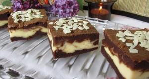 Márványos – krémsajtos brownie
