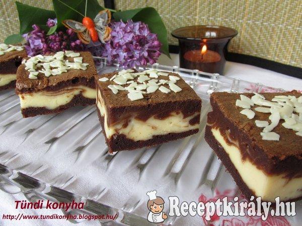Márványos - krémsajtos brownie