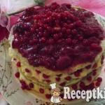 Ribizlis-meggyes torta vaníliakrémmel 1