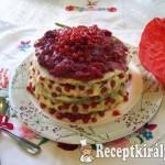 Ribizlis-meggyes torta vaníliakrémmel