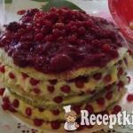 Ribizlis-meggyes torta vaníliakrémmel 2