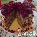 Ribizlis-meggyes torta vaníliakrémmel 3