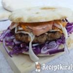 Sertés burger pitában 2