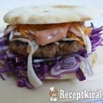 Sertés burger pitában 3