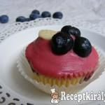 Áfonyás-fehércsokis cupcake 3