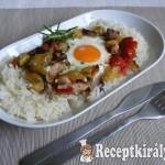 Csirkemellen sült zöldségek tojással 4