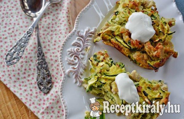 Cukkinis csirkés pite - paleo