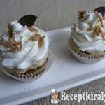 Gesztenyés-krémes cupcake