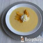 Joghurtos őszibarack leves