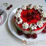 Meggyes joghurt torta 1