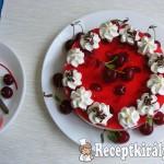 Meggyes joghurt torta 2