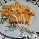 Rántott sajt majonézzel és hasábbal 1