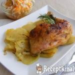 Rozmaringos csirkecomb burgonyaágyon sütve 1