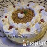 Sütés nélküli gesztenye torta
