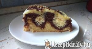 Kókuszkrémes túrógombóc torta