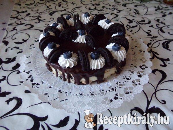Sütés nélküli Oreo torta