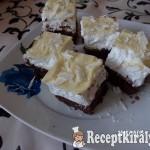 Habos szelet fehér csokival 1
