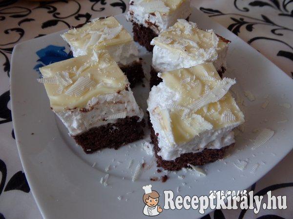 Habos szelet fehér csokival