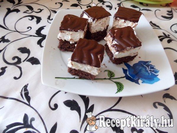 Keserű csokis habos kocka
