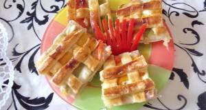 Sajtos-sonkás reggeli vagy vacsora szelet