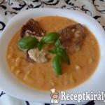 Zöldbabfőzelék tejszínes szaftos hússal 2
