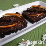 Narancsos brownie 1