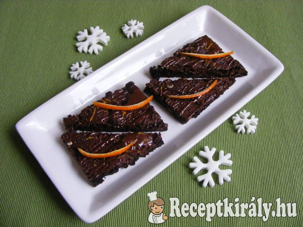 Narancsos brownie