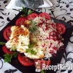 Tepsiben sült sertéskaraj sajttal sonkával és céklás rizzsel 2