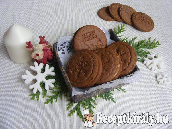 Kakaós sütipecsétes keksz karamell krémmel